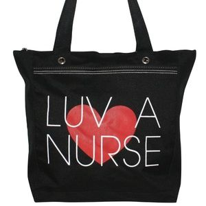 NWT! Love a Nurse Canvas Tote Bag